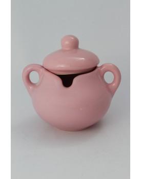 Açucareiro cerâmica rosa