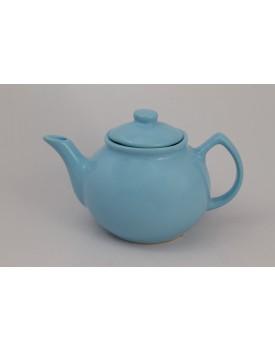 Bule de cerâmica azul