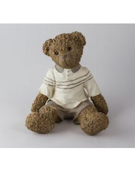 Urso marrom com short  e camisa