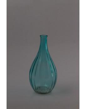 Vaso Vidro azul Com riscos
