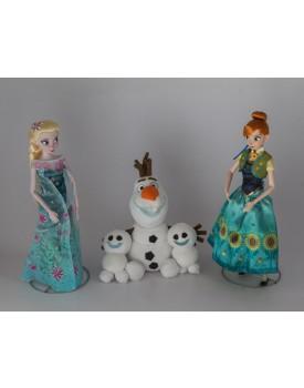 Kit Frozen Fever ( Anna , Elsa e Espirros )