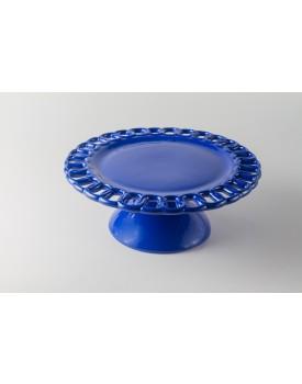 Prato Azul royal elo cerâmica Tam M