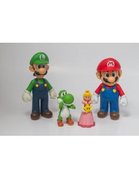 Kit Mario, luigi, princesa e toshi em vinil