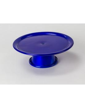 Prato com pé em alumínio  azul royal  P