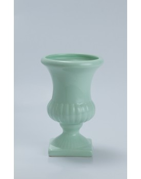 Vaso taça com gomos verde claro