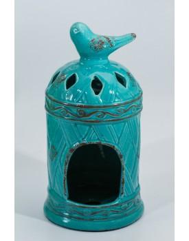 Gaiola Vintage ceramica passarinho