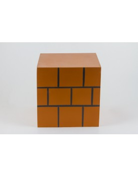 Caixa cubo mdf pintada Tijolinho
