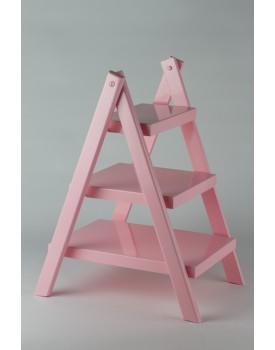 Escadinha de mesa mdf laqueada rosa
