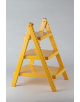 Escadinha de mesa mdf laqueada amarela