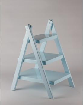 Escadinha de mesa mdf laqueada azul bebê