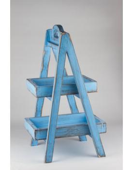 Escadinha Patinada azul
