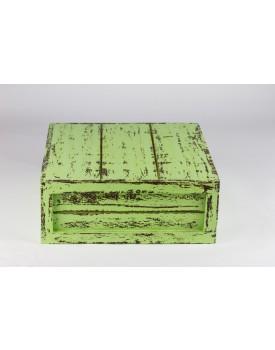 Caixa  Patinada verde 28 x 28