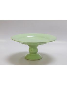 Prato redondo liso verde água