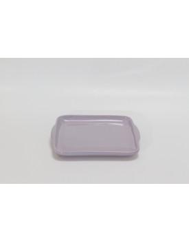Prato Cerâmica quadrado lilás