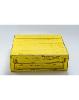 Caixa patinada amarela Tam 32 x 32