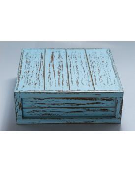 Caixa Patinada azul Claro Tam 30 x 30