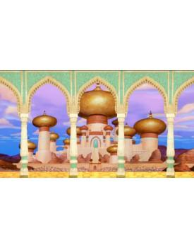 Tecido Sublimado Castelo Aladdin/ Jasmine   4  x 2,20