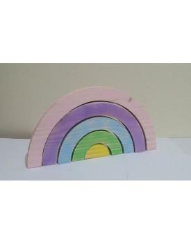 Arco Iris de madeira