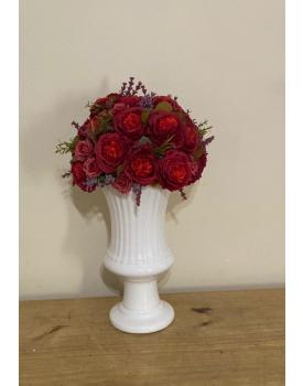 Arranjo de flor Artificial Vermelho Tam M  ( Não acompanha o Vaso )