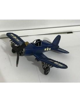 Avião USA Vintage azul Tam P