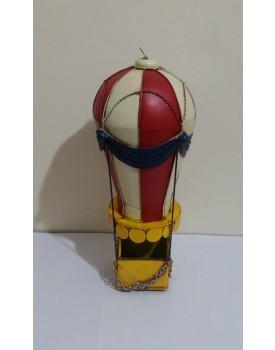 Balão de ferro vermelho e Branco Vintage Tam M