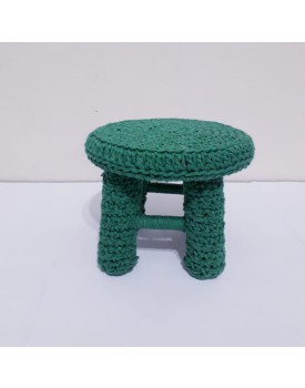 Mini Banquinho crochê verde Bandeira