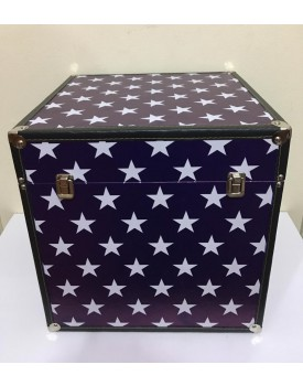 Caixa / Baú  Decorativa Fundo Azul com estrelas