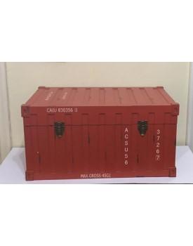 Caixa / Baú Container Vermelho Tam G