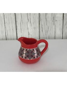 Vaso estilo Jarra Floral Vermelho
