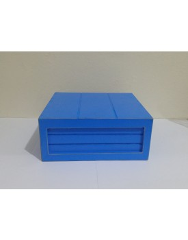 Mini Caixa rústica azul