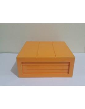 Mini Caixa rústica Laranja