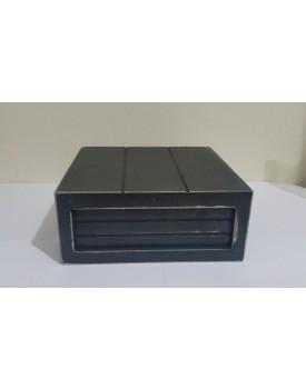 Mini Caixa rústica preta