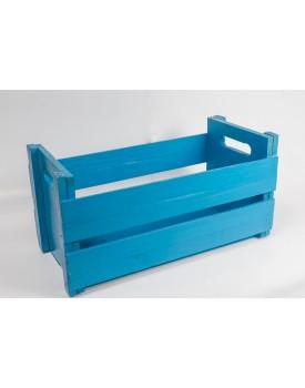 Caixote de Madeira Azul