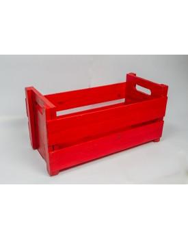 Caixote de madeira Vermelho