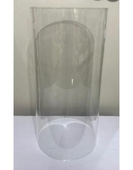 Cilindro de Acrílico Tam 72 cm de altura x 35 cm diâmetro