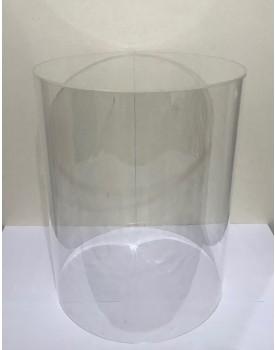Cilindro de Acrílico Tam 50 cm de altura x 40 cm diâmetro