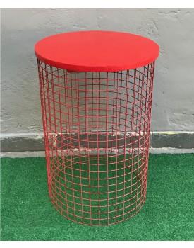 Cilindro tela vermelha
