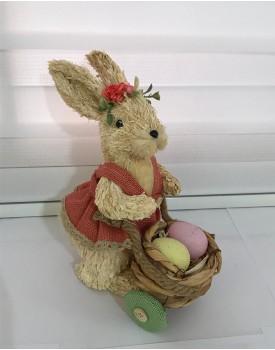 Coelhinha carregando ovinhos