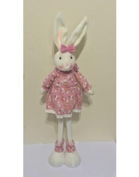 Coelha de Pelúcia Vestido rosa