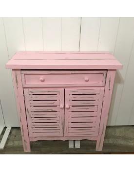 Cômoda rosa Patinada 2 portas