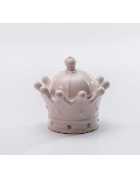 Mini Coroa Rosa Cerâmica
