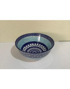 Mini Bowl geométrica azul com Branco