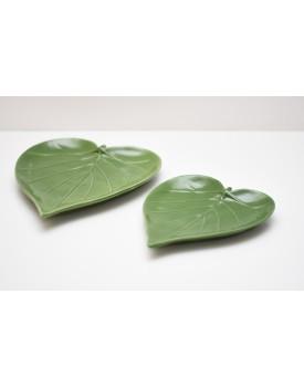 Duo de Folha Decorativa Verde