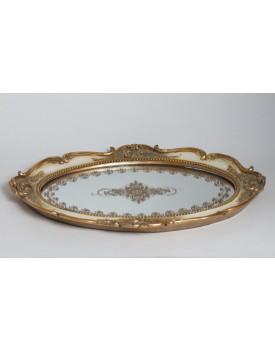 Bandeja Clássica dourada oval