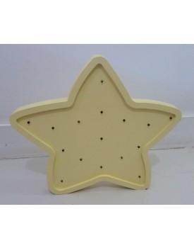 Estrela  MDF Luminosa amarela