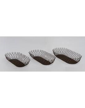 Bandeja oval de ferro Rococo Tam G