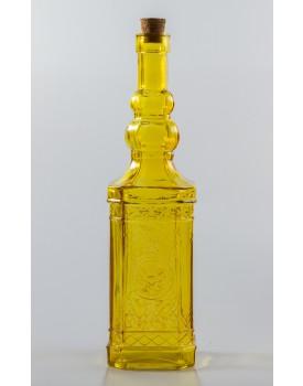 Garrafa Decorativa de vidro Amarela Tam G