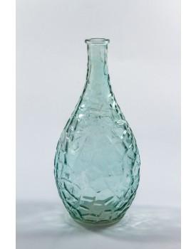 Vaso Frizado azul claro vidro