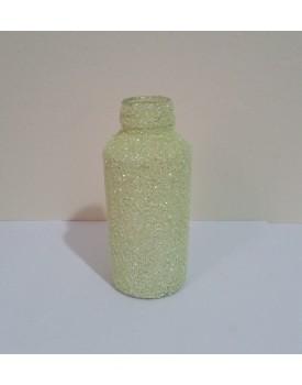 Mini Garrafinha de vidro com  glitter Verde