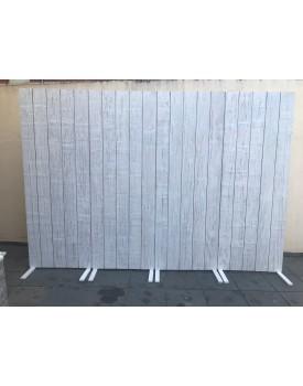 Painel de Madeira Branco Patinado 2,40 metros x 2,20 de altura